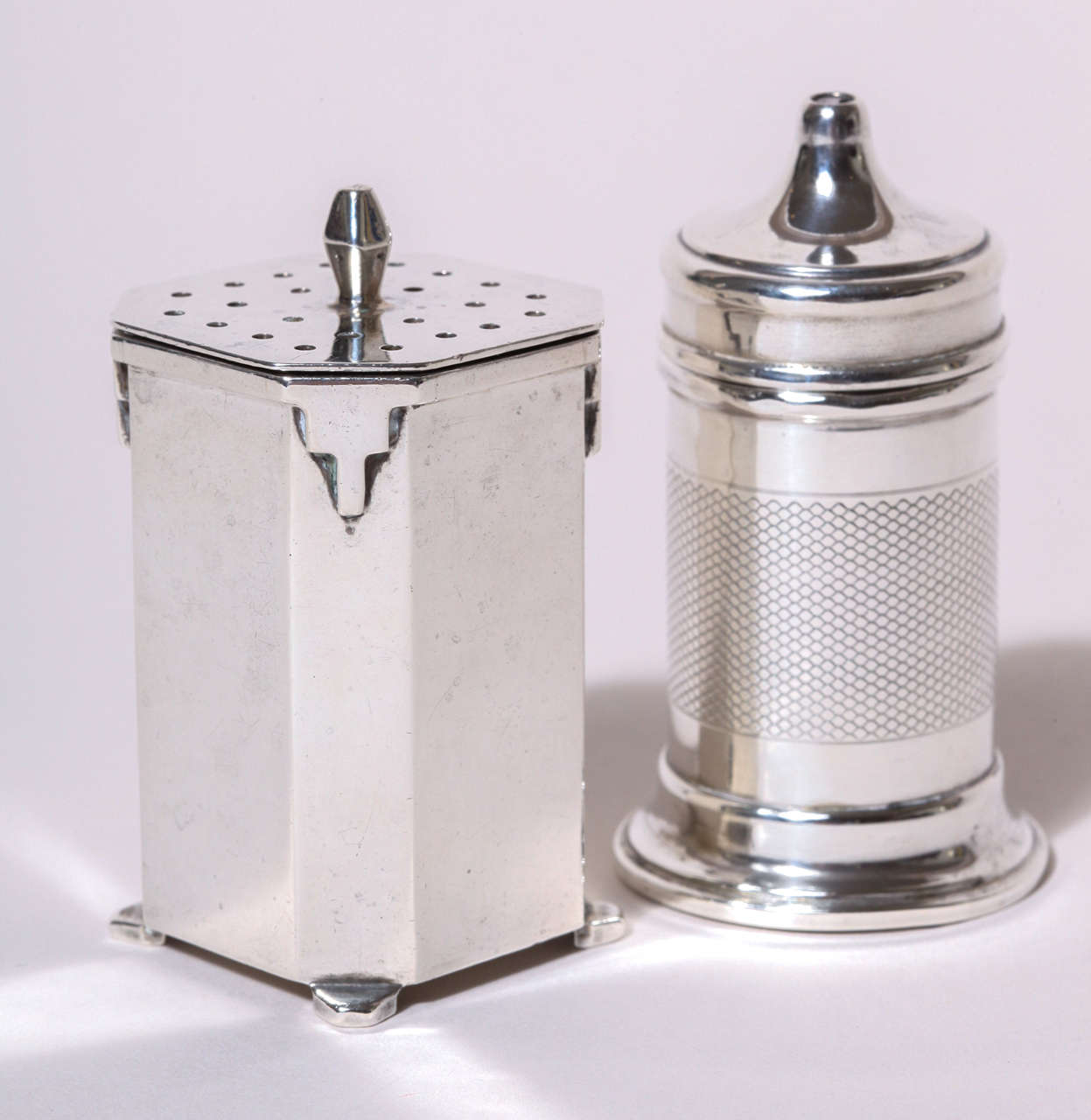 Art Deco Silver Salt And Pepper Shakers At 1stdibs