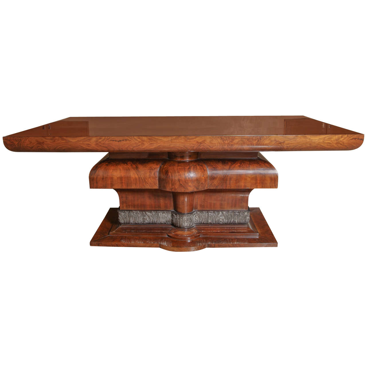high gloss dining table dm shop beautiful french art deco burl walnut and silver leaf dining art deco dining table high
