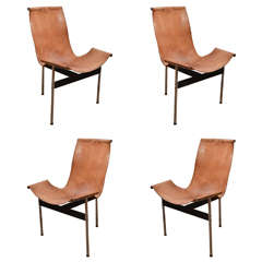 Set of Four 1960s Laverne T-Chairs by Katavolos, Little and Kelly