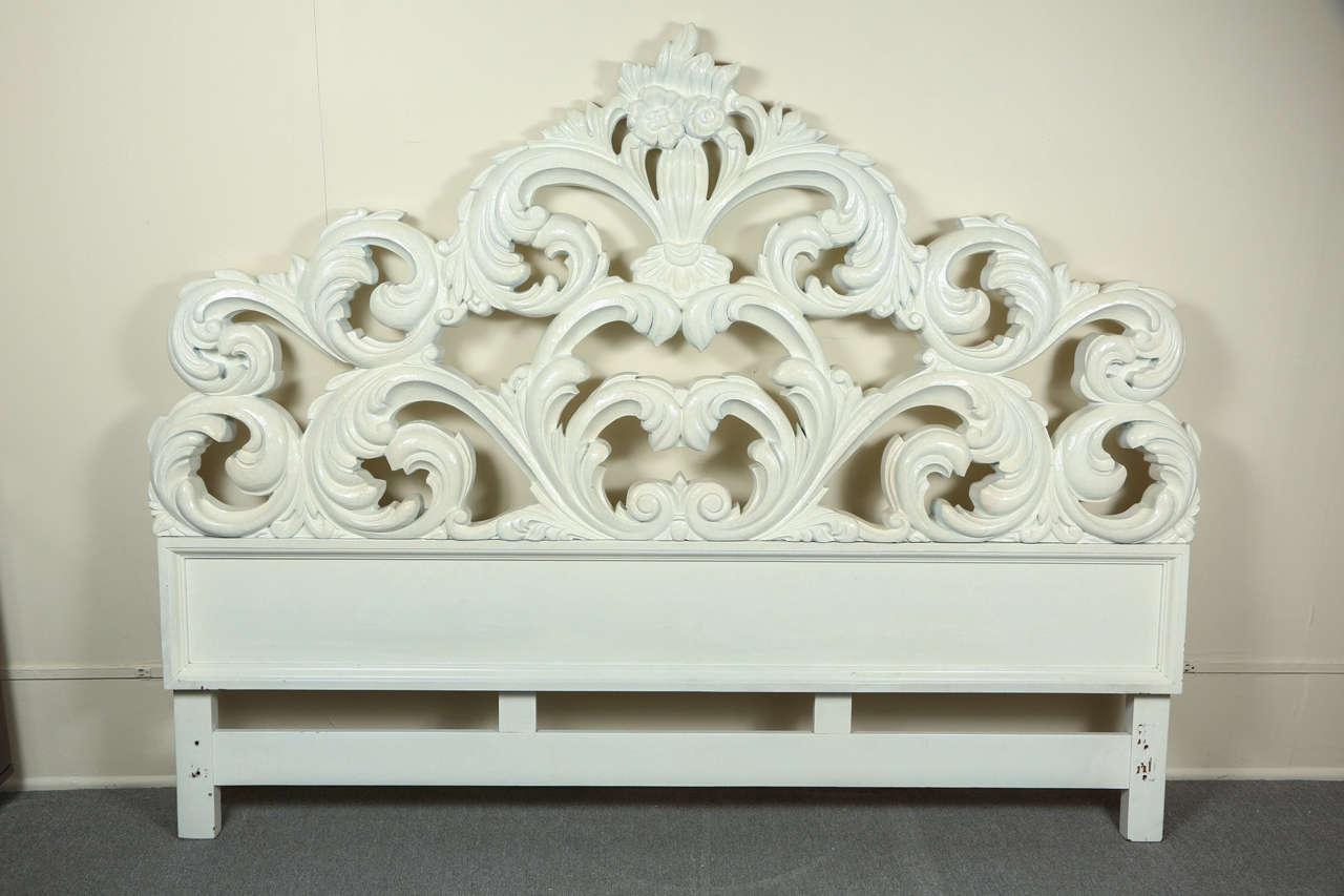 glamorous carved wood baroque headboard at stdibs, Headboard designs
