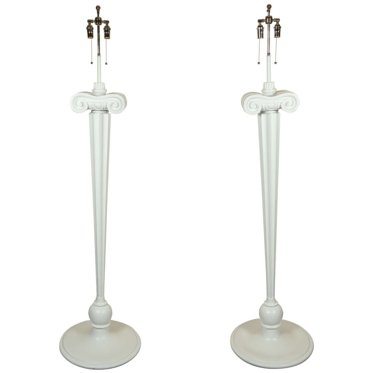 Spectacular Pair of Hollywood Regency Style Floor Lamps from Eden Roc Hotel
