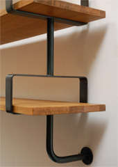 French Iron and Oak Wall Shelves image 7