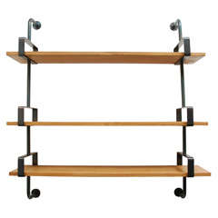 French Iron and Oak Wall Shelves image 2