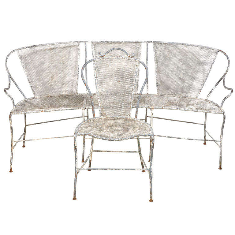 French iron garden set at 1stdibs French metal garden furniture