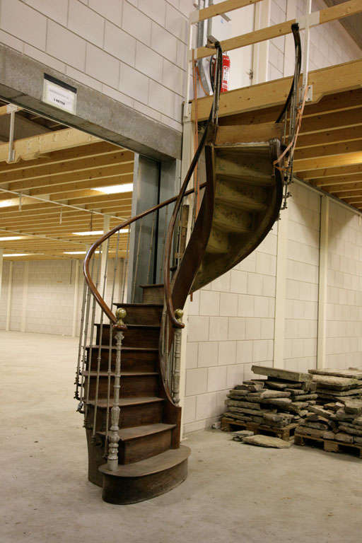 An Antique Walnut Spiral Staircase At 1stdibs