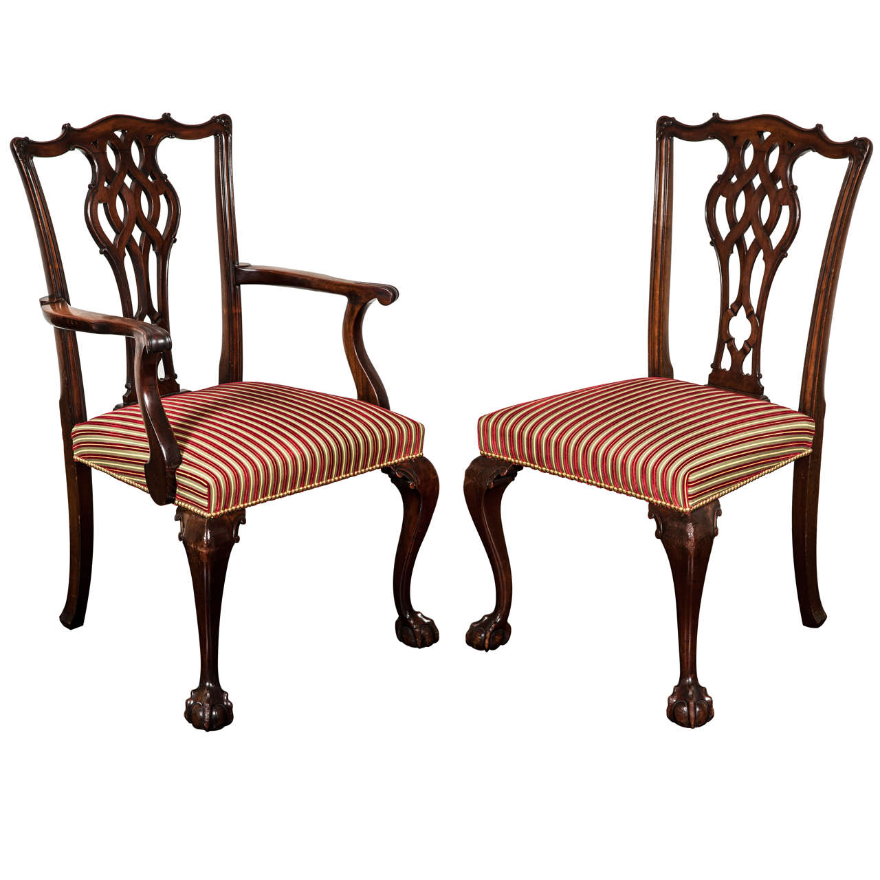 Set Of 28 Dining Chairs In The Chippendale Taste Circa