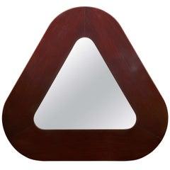 Impressive Triangular Rosewood Mirror
