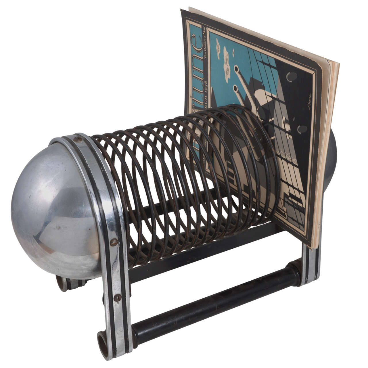 Mckay - Craft Machine Age Art Deco Magazine Rack By Carpenter