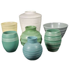 Keith Murray for Wedgewood collection art deco vases
