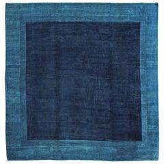 Fine Antique Peking Chinese Blue Open Field Rug