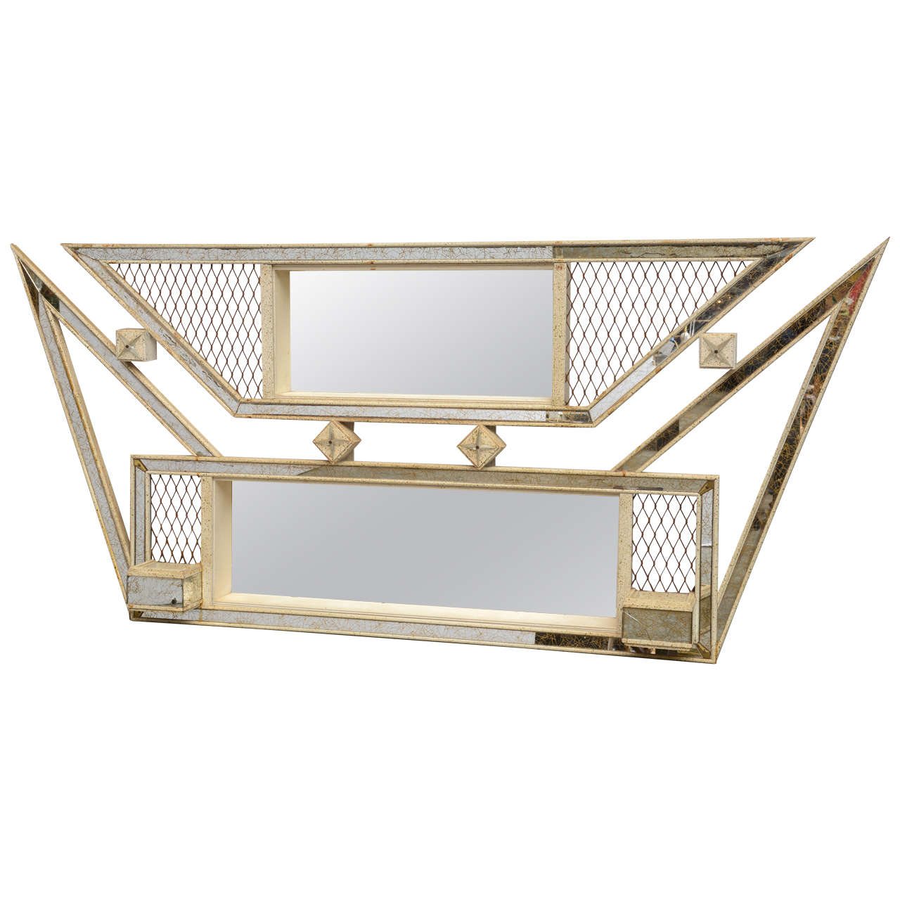 Fabulous 1950s mirrored shadow box at 1stdibs for Mirrored box shelves