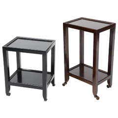 Karl Springer Leather Telephone Tables