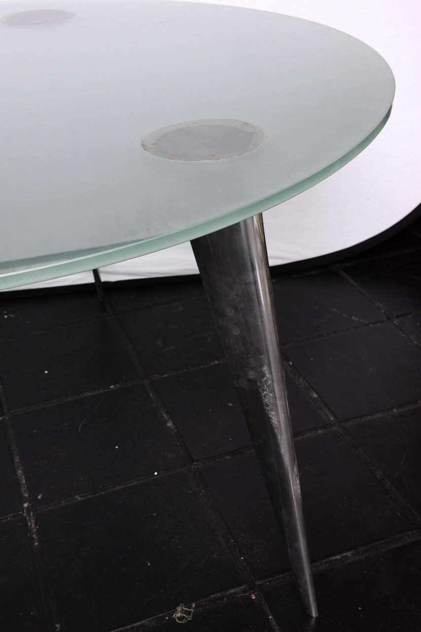 Philippe starck and aleph driade m serie lang dining for Philippe starck glass table