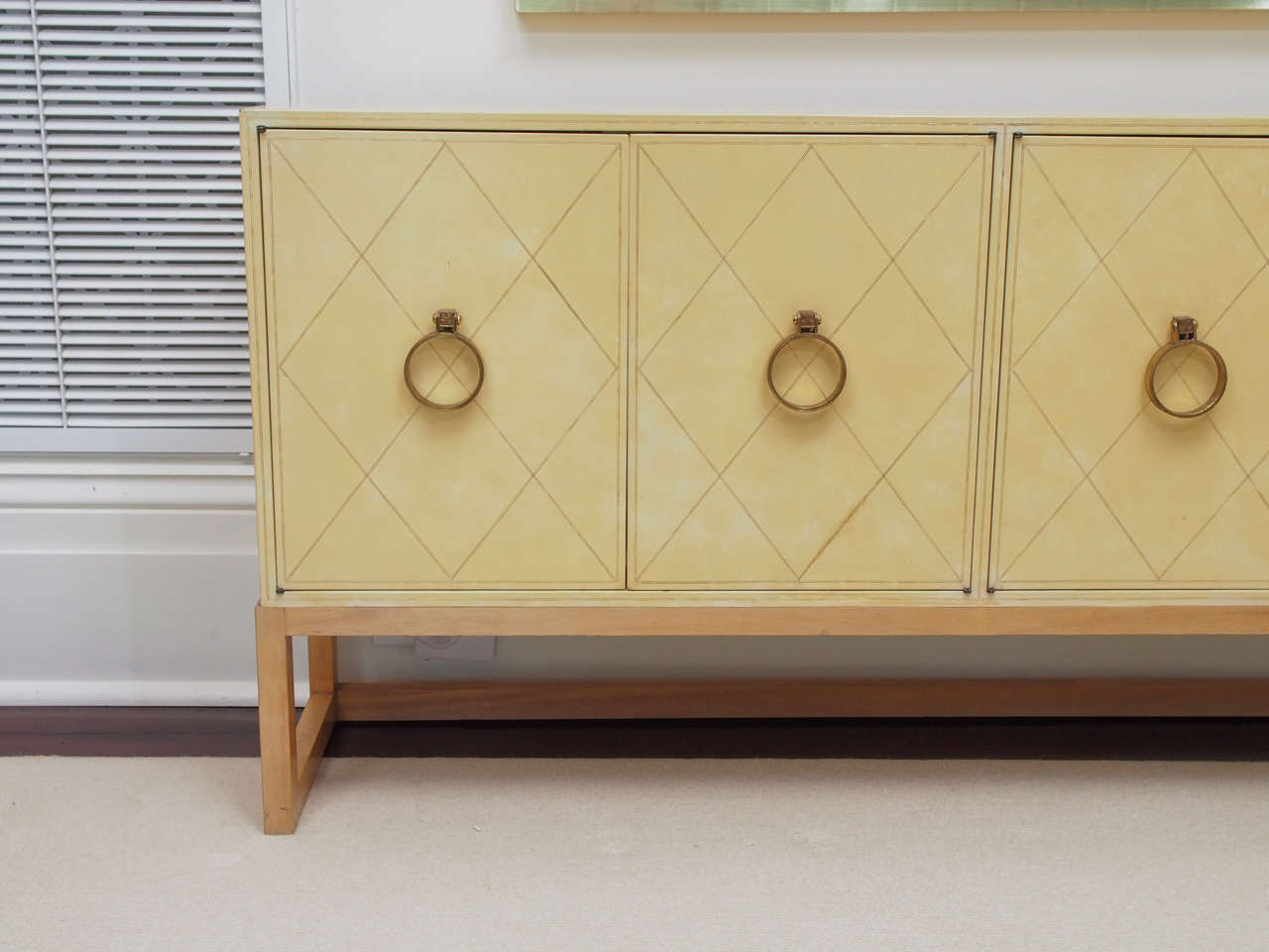 NEW PRICE SALE Exceptional Four-Door Credenza by Tommi Parzinger, circa 1940s 3