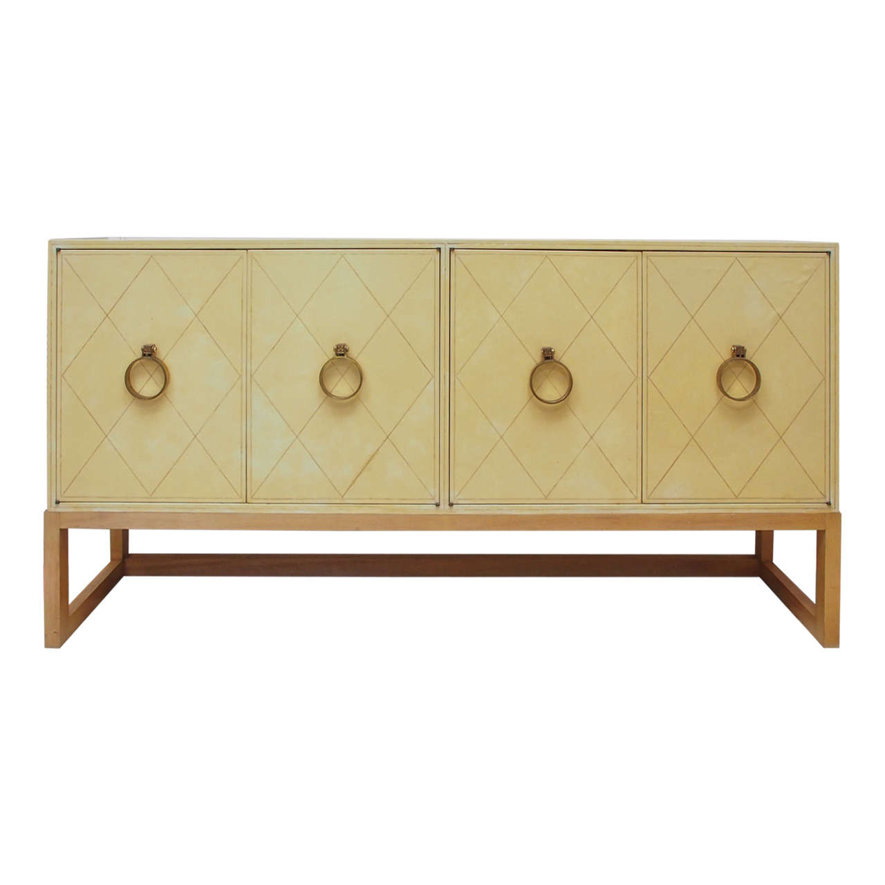NEW PRICE SALE Exceptional Four-Door Credenza by Tommi Parzinger, circa 1940s 1
