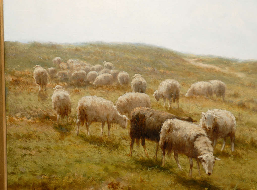 Sheep and Shepherd Oil Painting 3