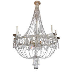 Large, Italian, Murano Glass Chandelier