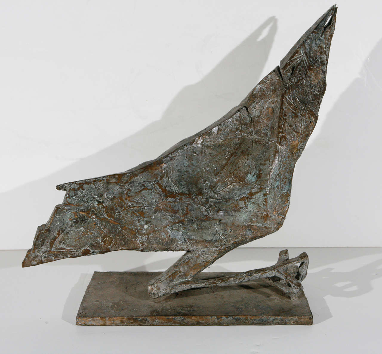 Hand-cast, signed and dated, bronze sculpture of a bird by German-born, American artist, Bruno Groth (1905-1992).