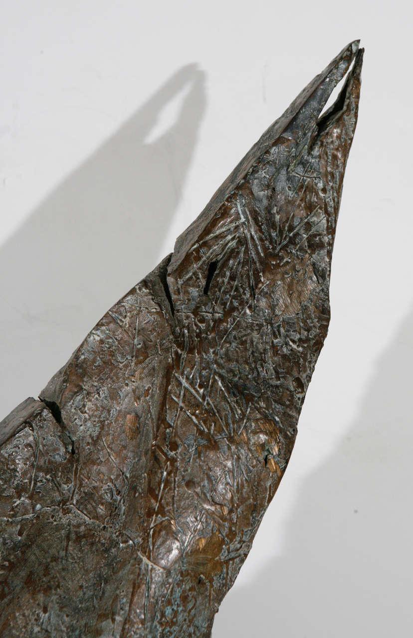 Bronze Mid-Century Modern Bird Sculpture For Sale