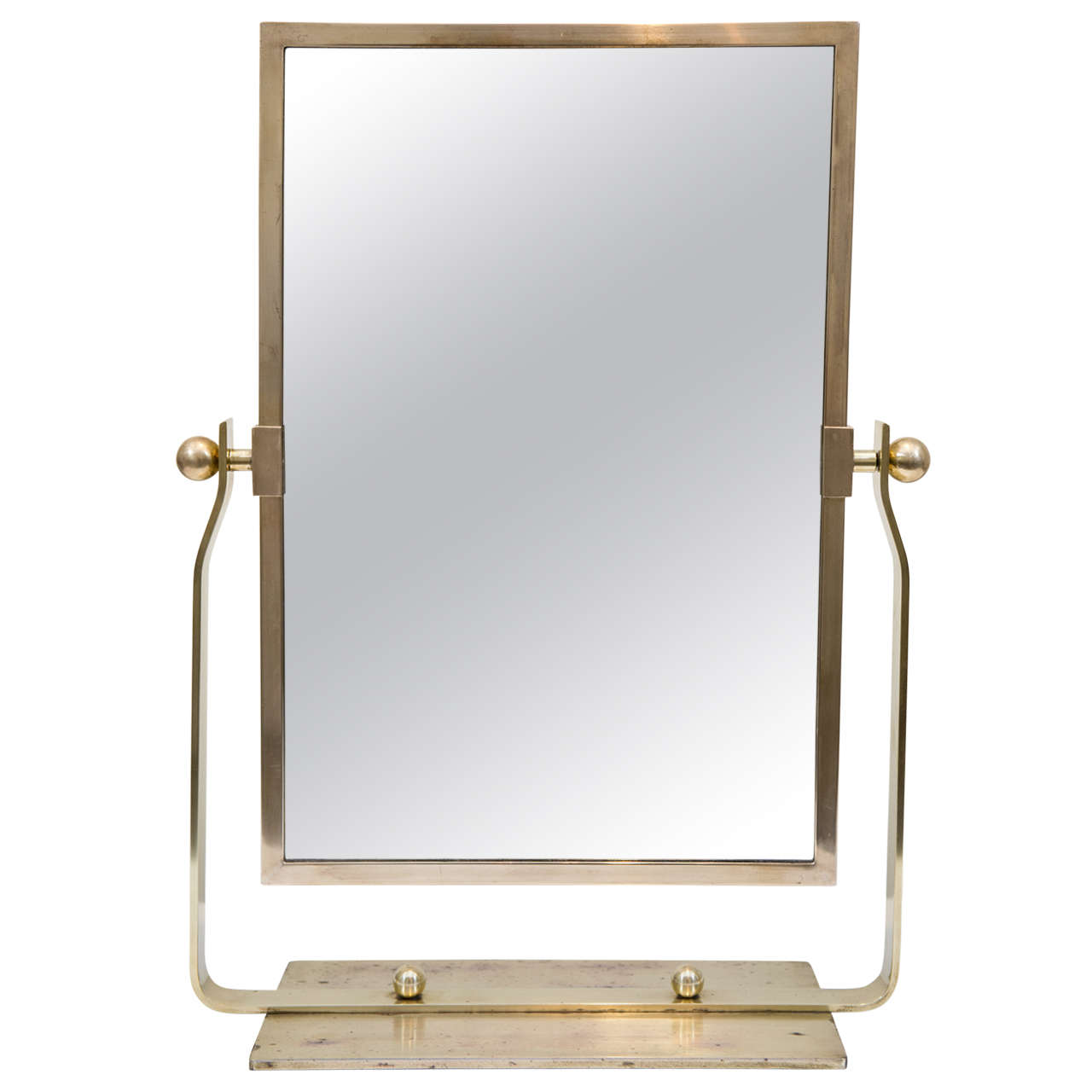 french deco brass table top mirror at 1stdibs