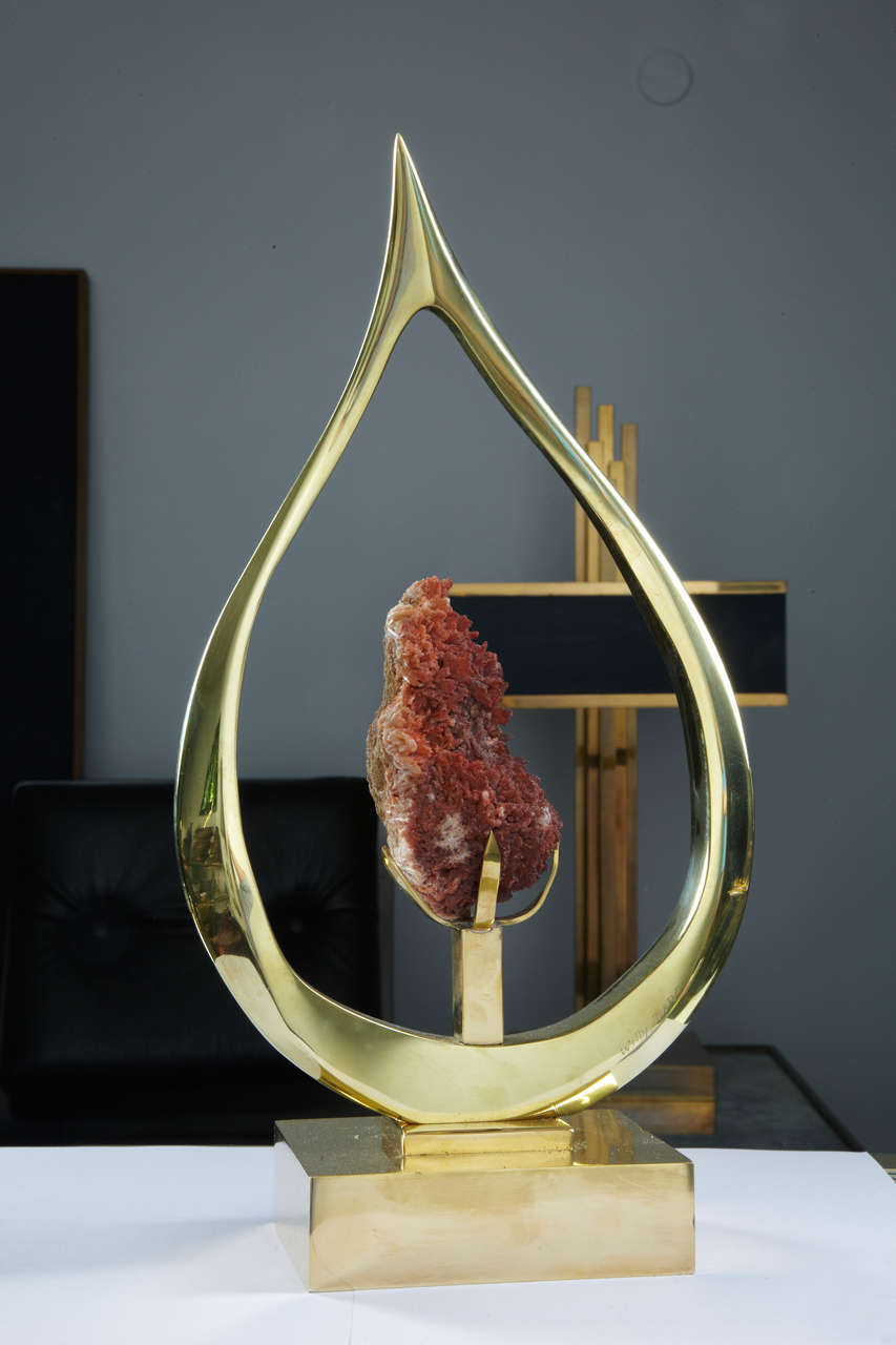 Red Bronze Stone : Rare willy daro s sculpture for sale at stdibs