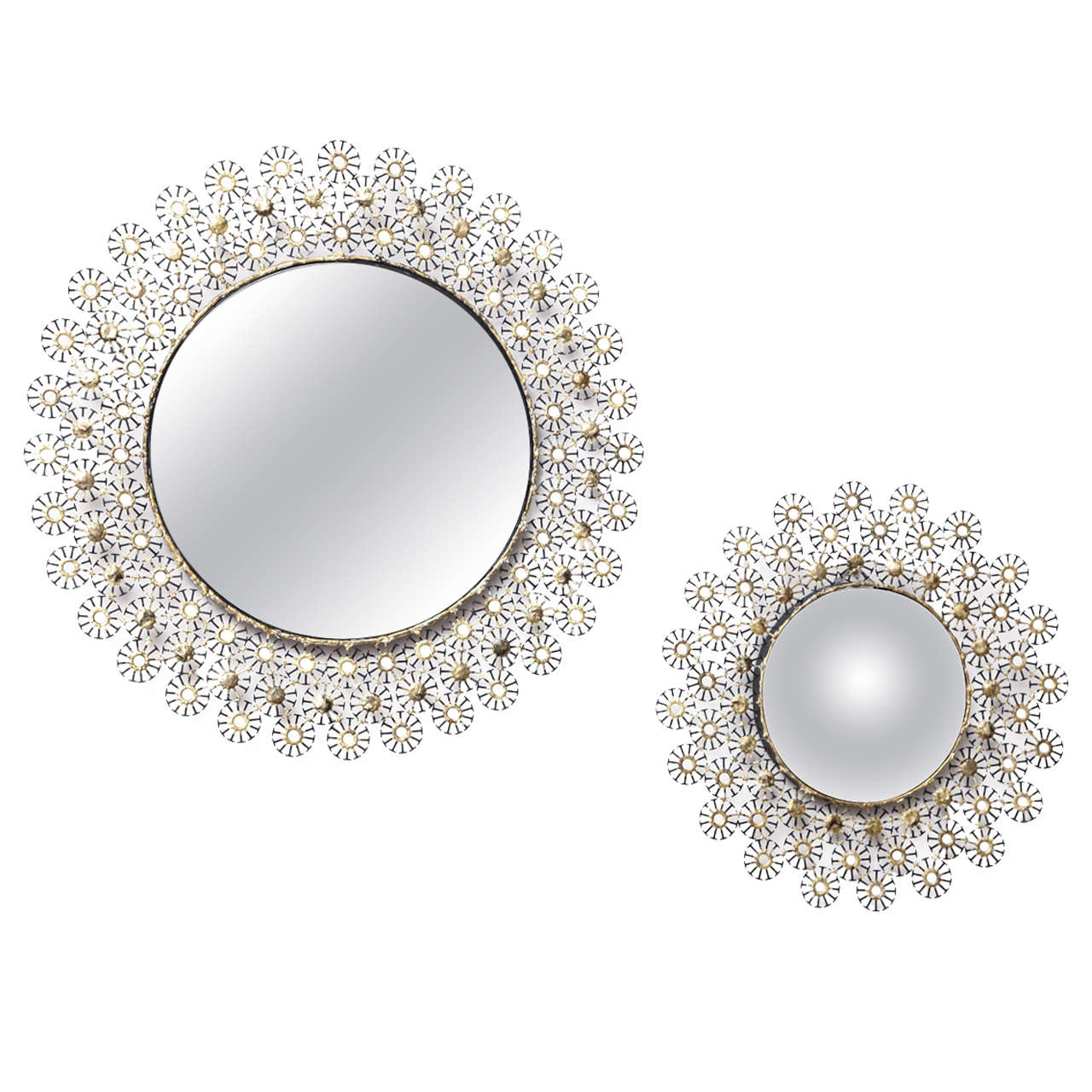 Marie Suri Steel and Bronze Gigi Mirror