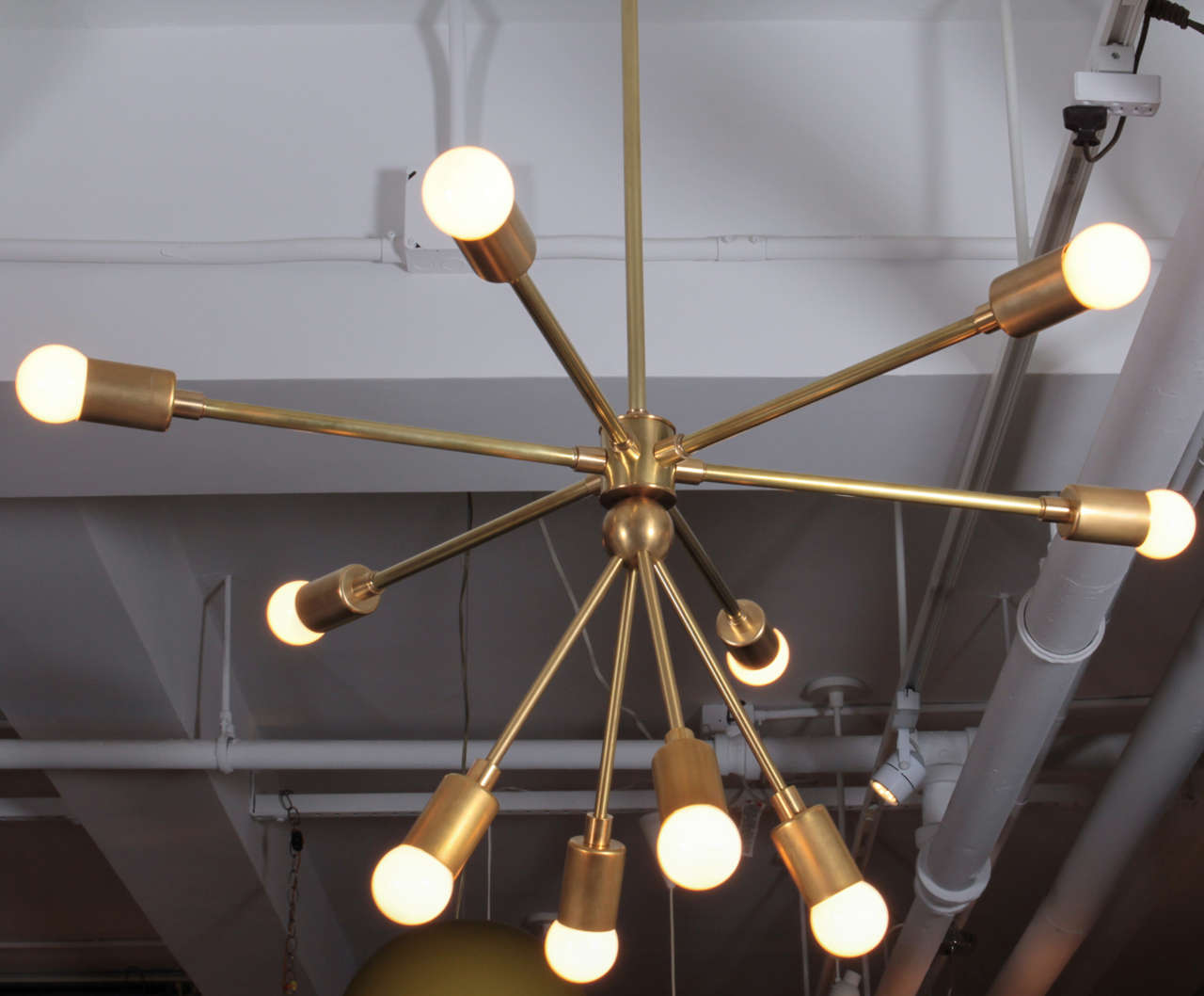 Custom Macomber Modern Brass Sputnik Light Fixture For Sale 1