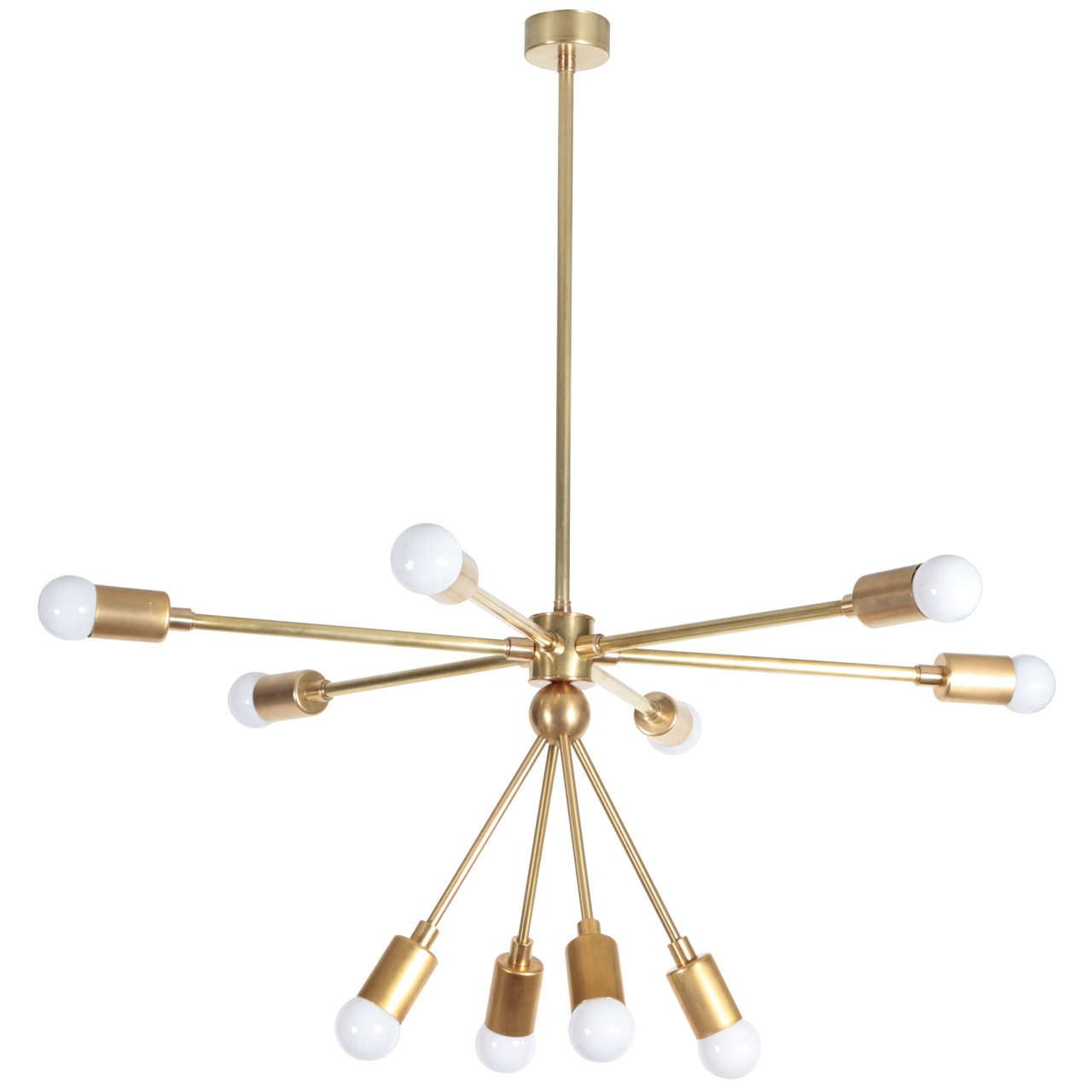 custom macomber modern brass sputnik light fixture for. Black Bedroom Furniture Sets. Home Design Ideas