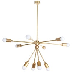 Custom Macomber Modern Brass Sputnik Light Fixture