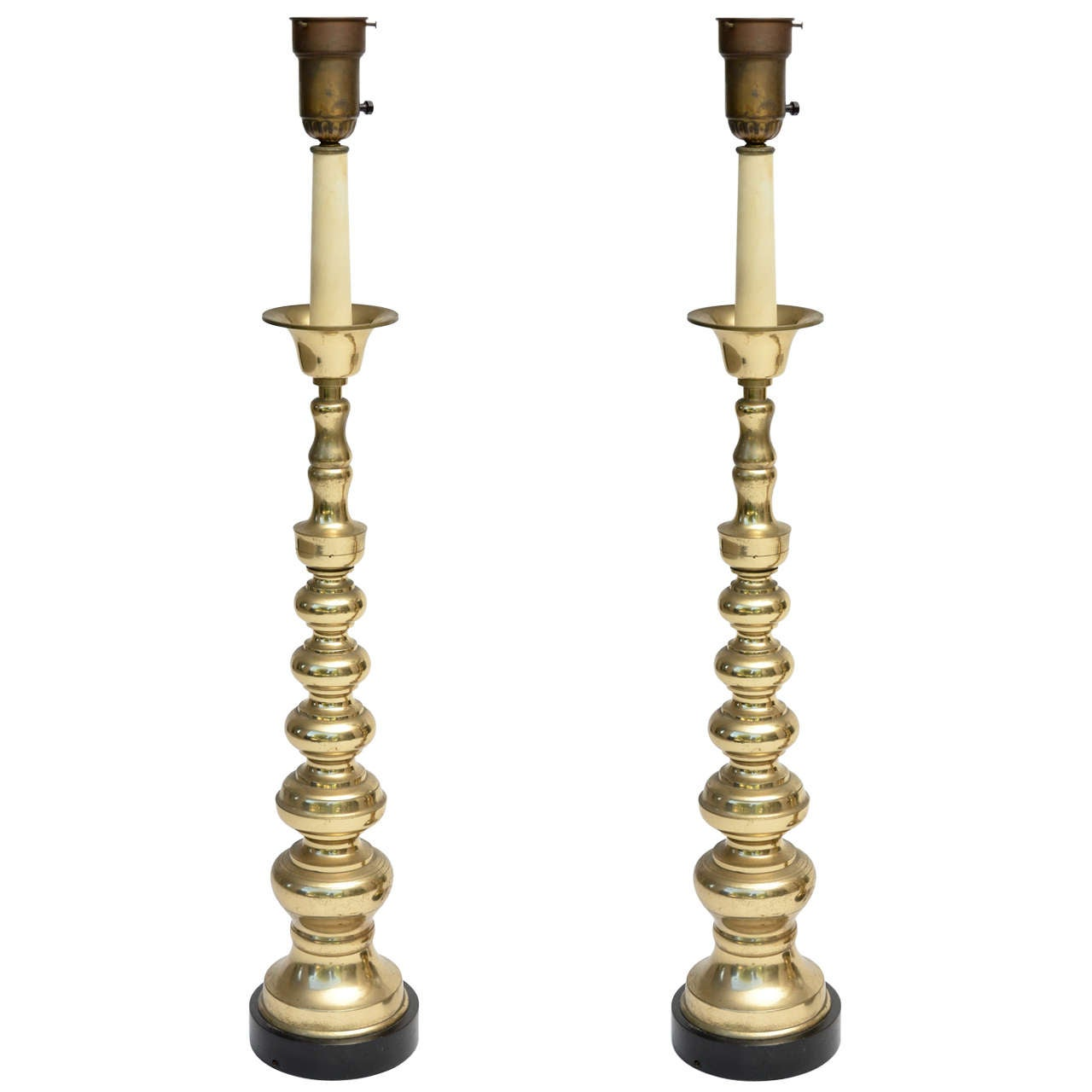 Oversized Stiffel Style Lamps For Sale