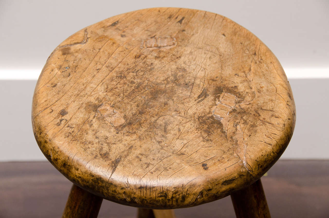 Magnificent Wooden Farm Stool At 1Stdibs Creativecarmelina Interior Chair Design Creativecarmelinacom