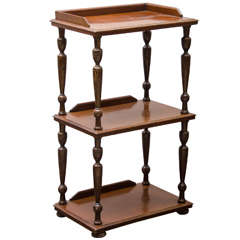 Three Tiered Mahogany Etegere
