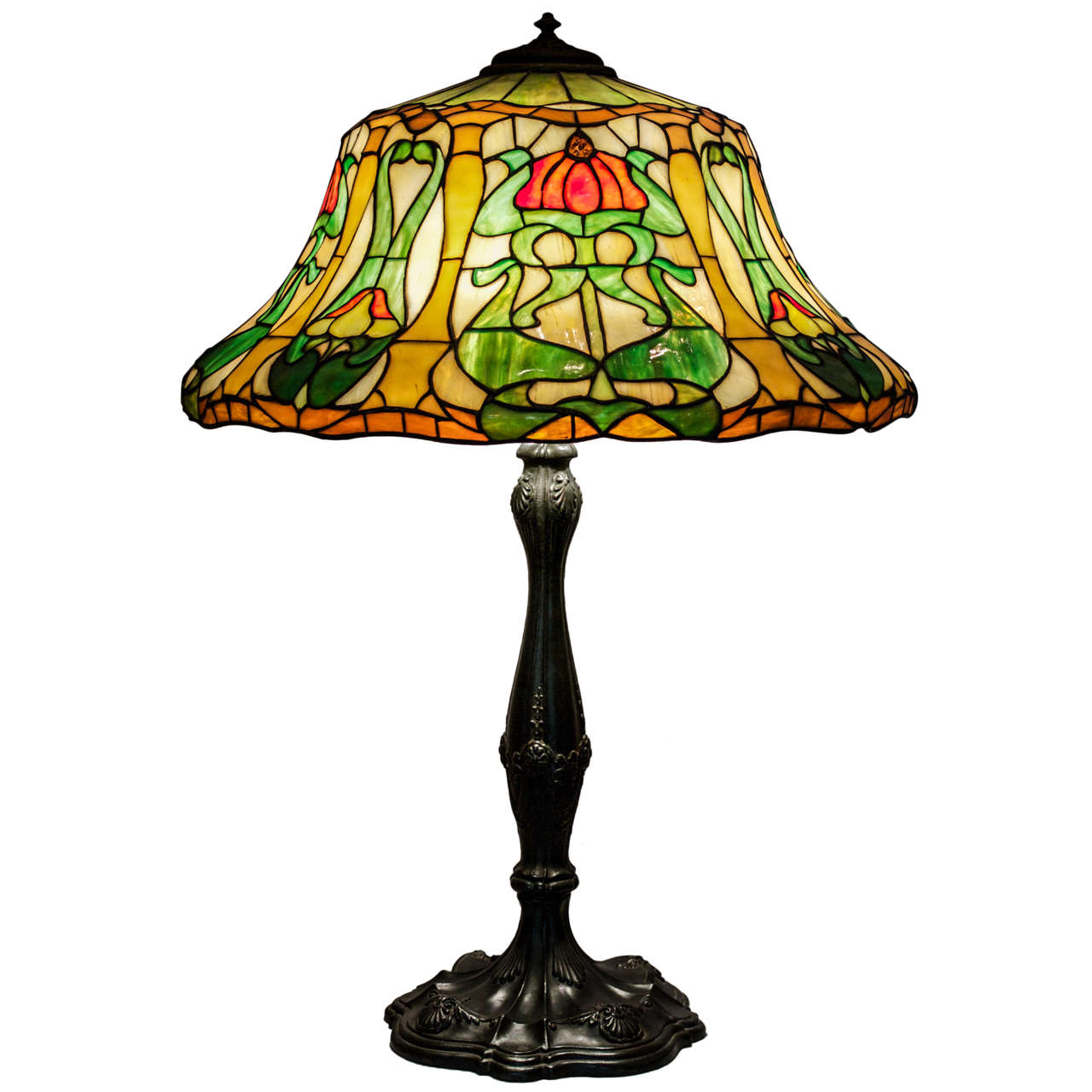Wilkinson leaded glass table lamp at 1stdibs wilkinson leaded glass table lamp for sale aloadofball Gallery