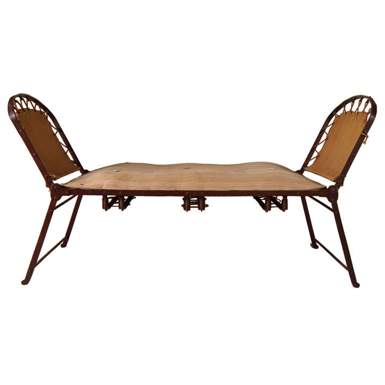 19th century french campaign chaise at 1stdibs. Black Bedroom Furniture Sets. Home Design Ideas
