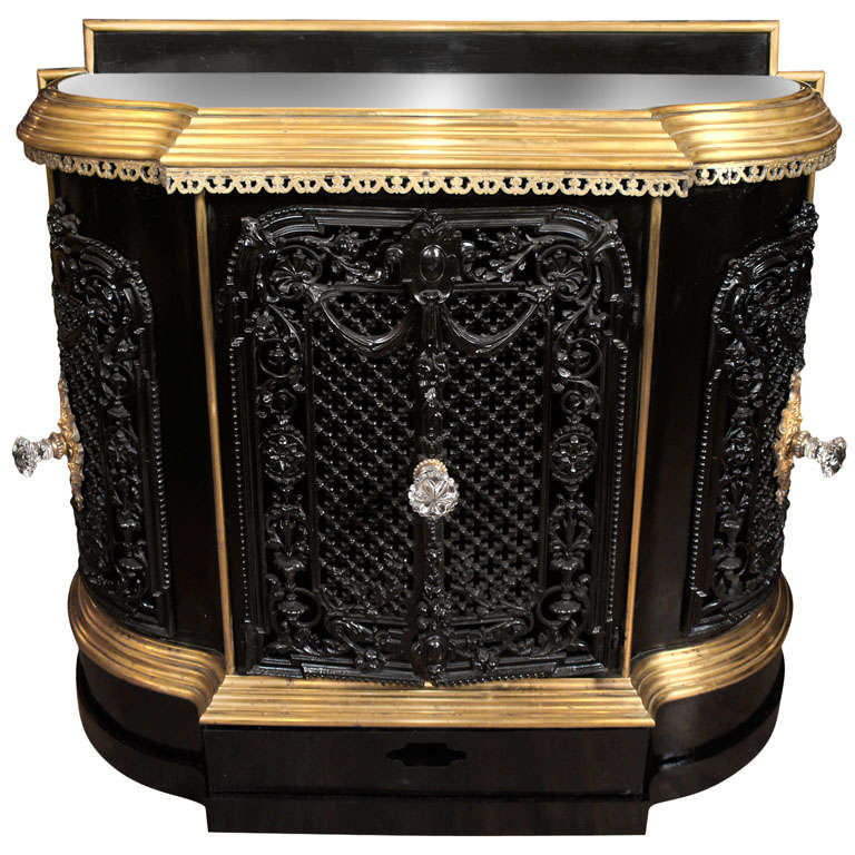 Used Plate Warmer ~ A very fine french cast iron and brass plate warmer at stdibs