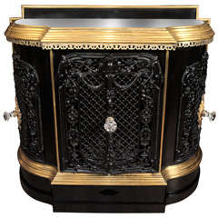 A Very Fine  French Cast Iron and Brass Plate Warmer