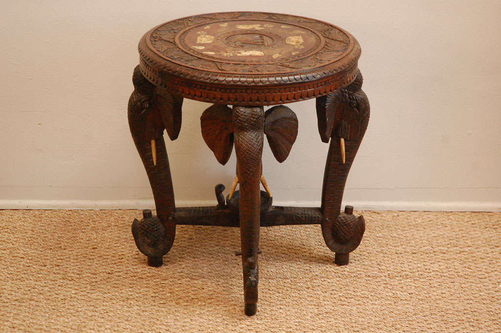 Anglo Indian Elephant Table At 1stdibs