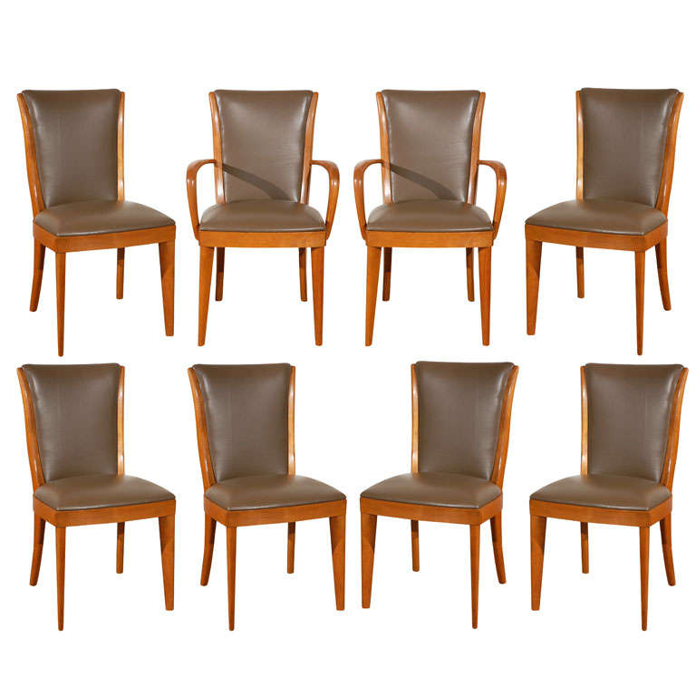 Set of Eight Heywood Wakefield Dining Chairs at 1stdibs