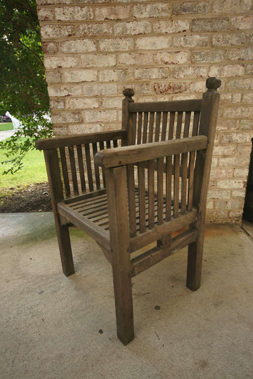 1930 39 s english arts and crafts teak garden chair at 1stdibs