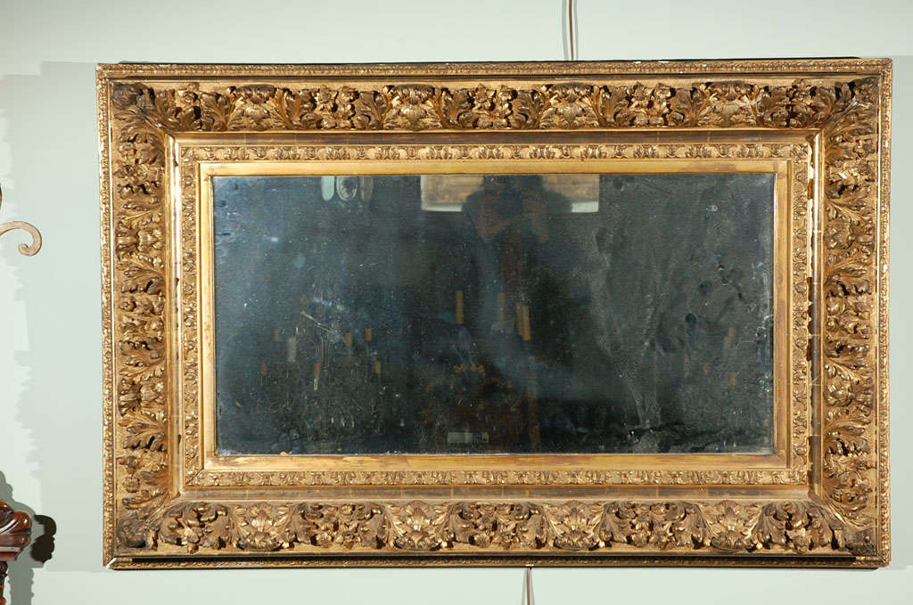 19th Century French Carved Gilt Wood Mirror At 1stdibs
