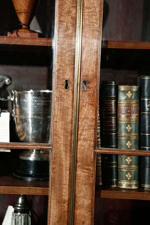 19th Century 1840s English Mahogany Secretary Bookcase For Sale
