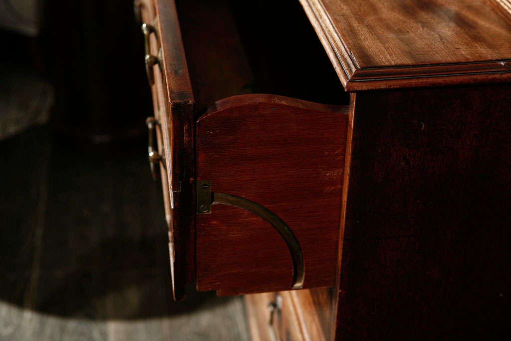 Bronze 1840s English Mahogany Secretary Bookcase For Sale