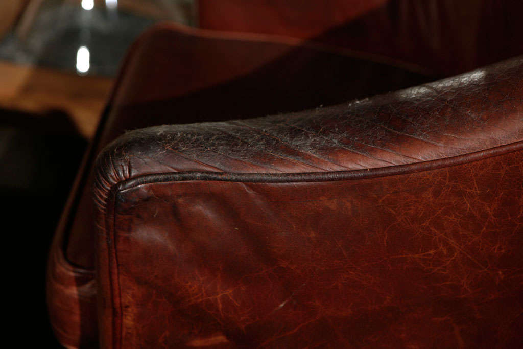 Pair of French Leather Arm Chairs, Circa 1900 image 6