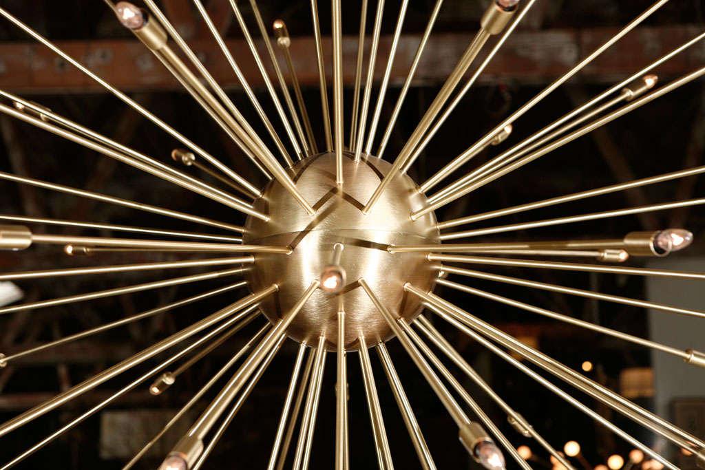 A 72 Lights Brass Sputnik Light Fixture 3