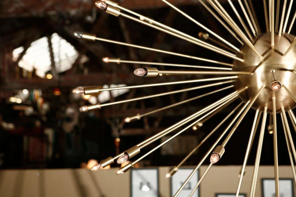 American A 72 Lights Brass Sputnik Light Fixture