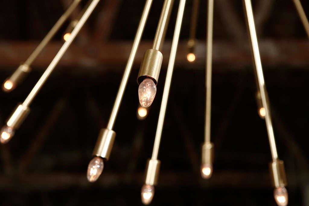 A 72 Lights Brass Sputnik Light Fixture 2