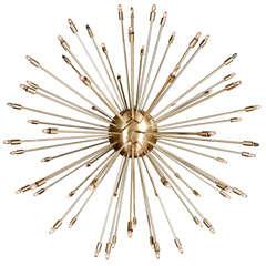 A 72 Lights Brass Sputnik Light Fixture