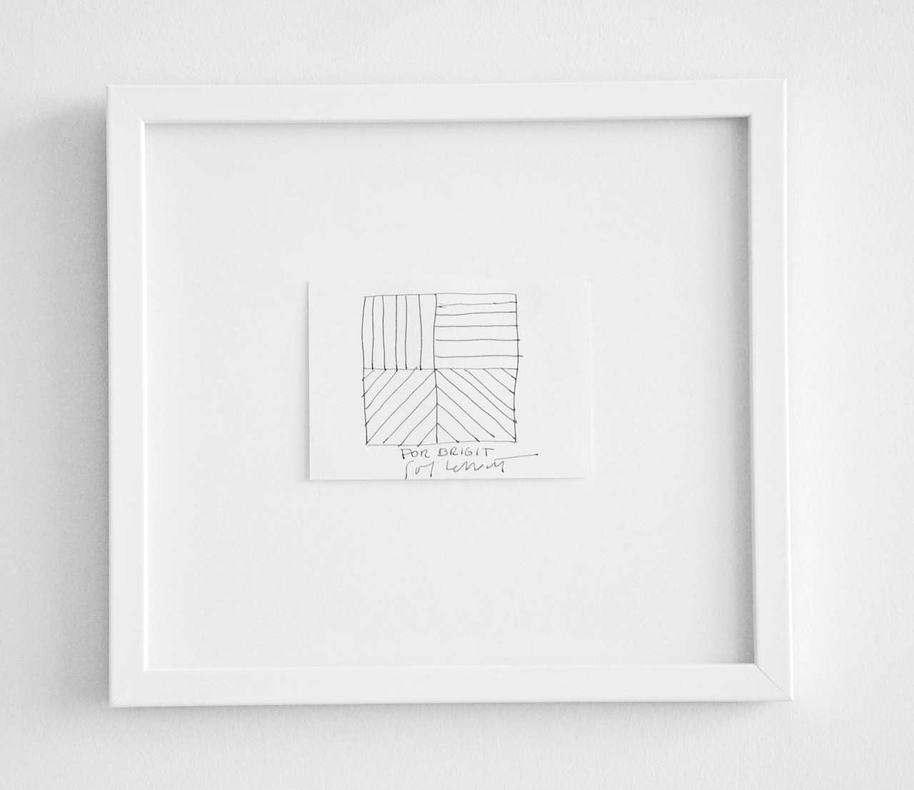 Ink Drawing by Sol LeWitt, circa 2000 In Excellent Condition For Sale In Winnetka, IL
