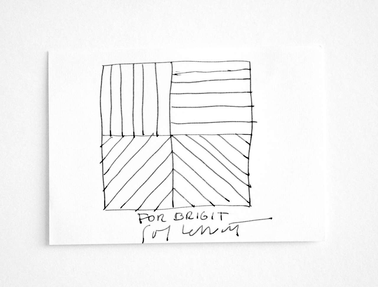 Minimalist Ink Drawing by Sol LeWitt, circa 2000 For Sale