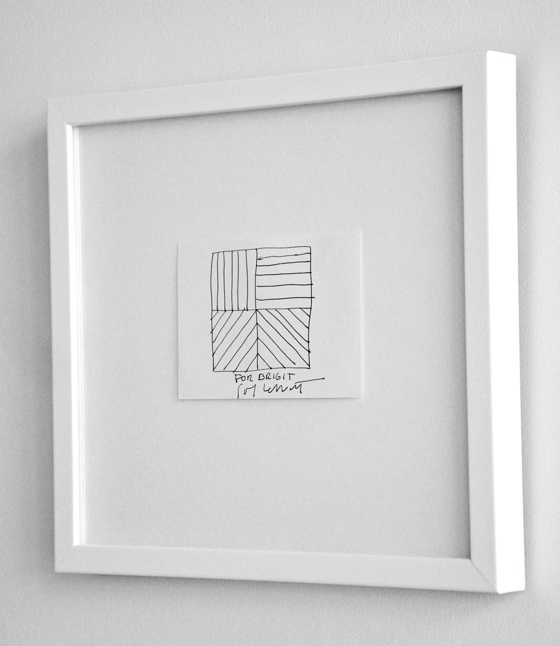 American Ink Drawing by Sol LeWitt, circa 2000 For Sale